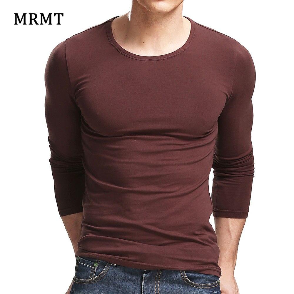 MRMT 2020 лайкра хлопок мужская футболка 5XL с длинными рукавами Мужская однотонная Повседневная мужская футболка с длинным рукавом