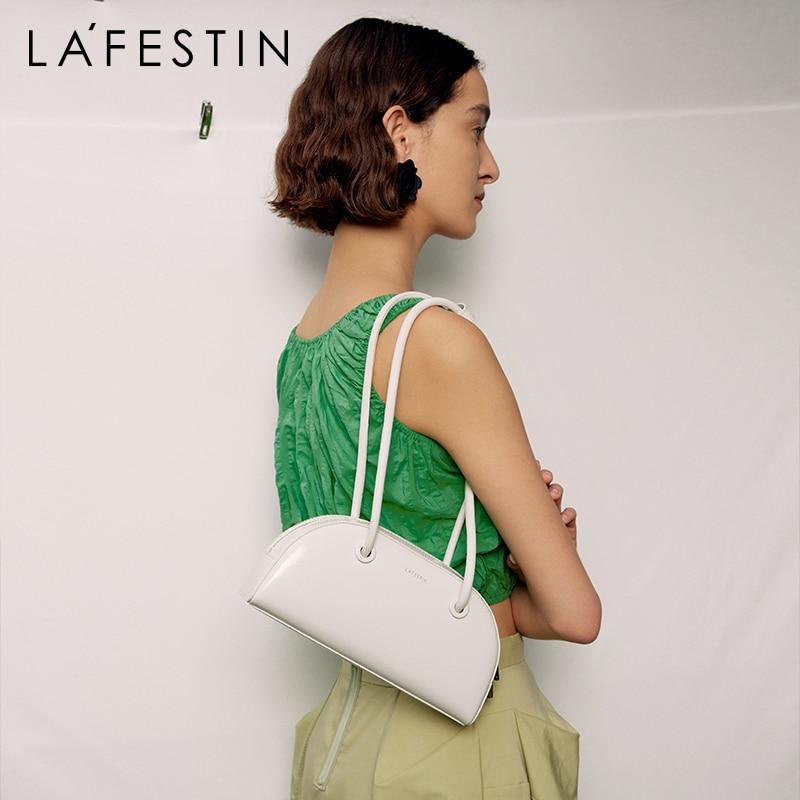 LA FESTIN مصمم حقائب اليد 2021 موضة جديدة ins حقيبة يد حقيبة كتف عادية مقبض طويل ريترو جلدية