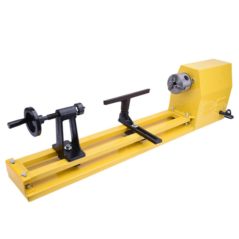 Infinitely variable speed woodworking lathe with chuck