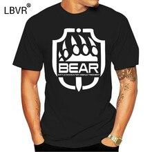 Модная крутая Мужская футболка, забавная футболка, футболка с принтом медведя таркова