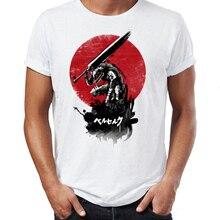 Męska koszulka Berserk Guts i Casca Artsy niesamowita koszulka z nadrukiem