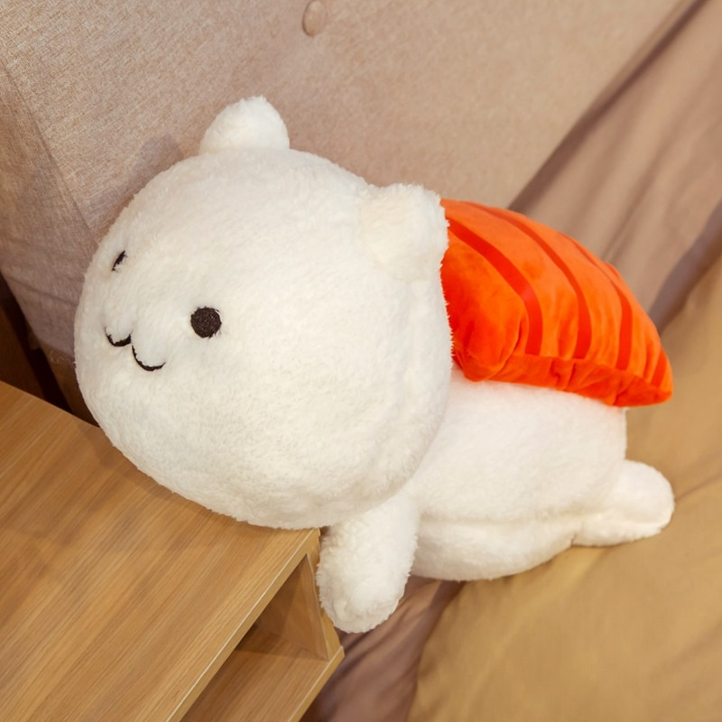 Hot 1pc 45cm Kawaii Lying Sushi Cat Plush Toys Stuffed Cute Doll Lovely Animal Pillow Soft Cartoon Cushion Kids Christmas Gift  - buy with discount