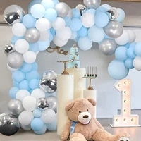 98pcs blue balloon garland arch set latex balloon baby blue baby shower birthday party decoration kids welcome home balloons