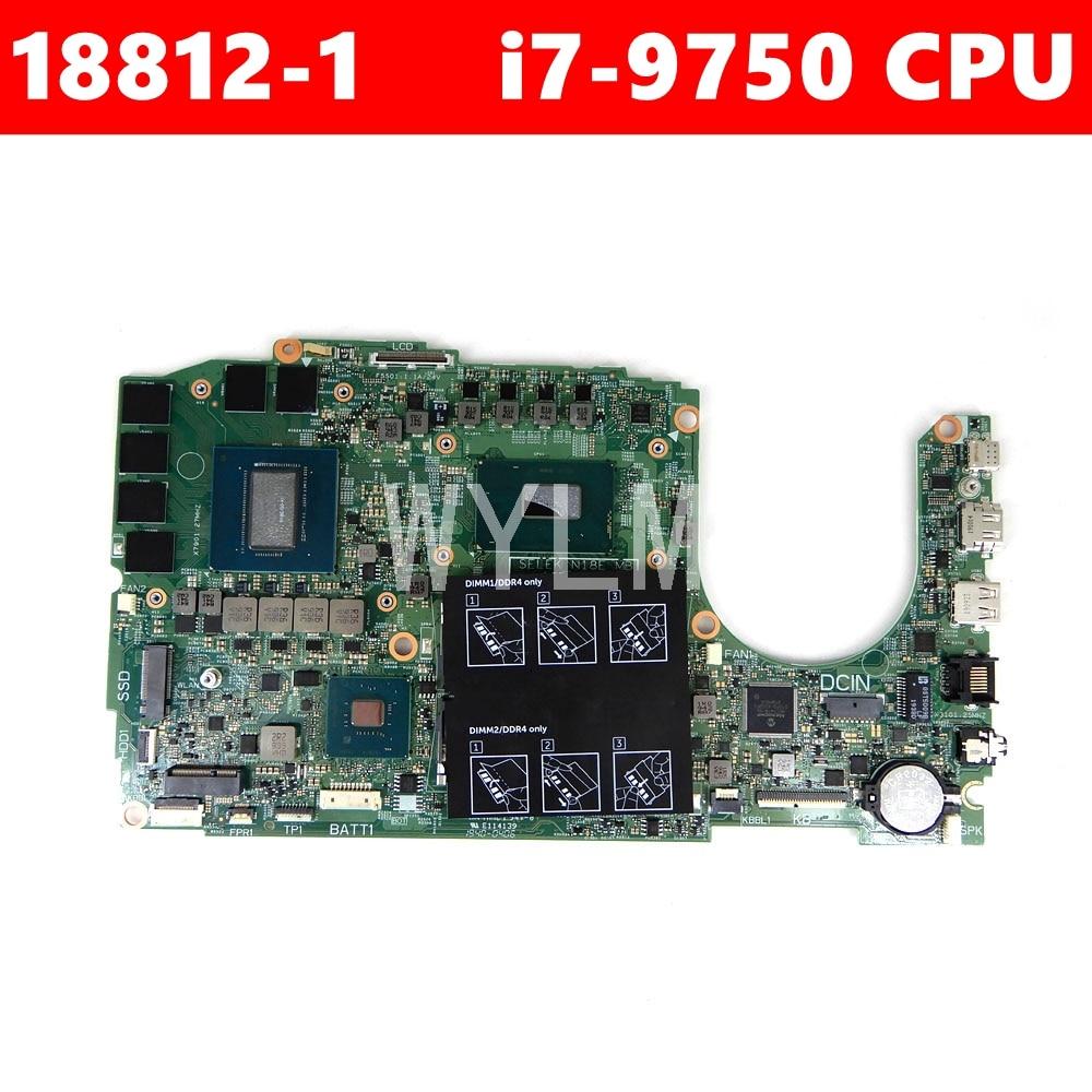 0FMG64 18812-1 i7-9750 CPU N18E-GO-A1 اللوحة لديل G3 15-3590 اللوحة المحمول 100% اختبار العامل جيدا