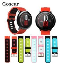 Bracelet de poignet en Silicone Gosear remplacement Bracelet de Sport intelligent montre Bracelet de poignet pour accessoires Xiaomi Xiomi Huami Amazfit
