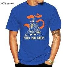 ใหม่พระพุทธรูปโยคะค้นหา Balance Vintage เสื้อยืดผู้ชายผ้าฝ้าย S 6Xl สีดำ Made In Usa