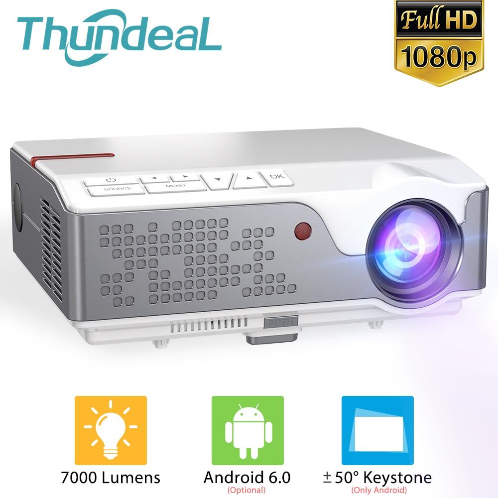 ThundeaL Full HD 1080P TD96 Android WiFi Mini Proyector portátil de LED...