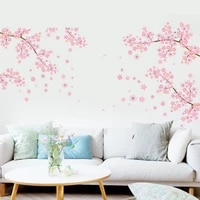 fashion wall stickers flower diy removable pvc vinyl art mural wall decal sticker home room decor removable decals stickers