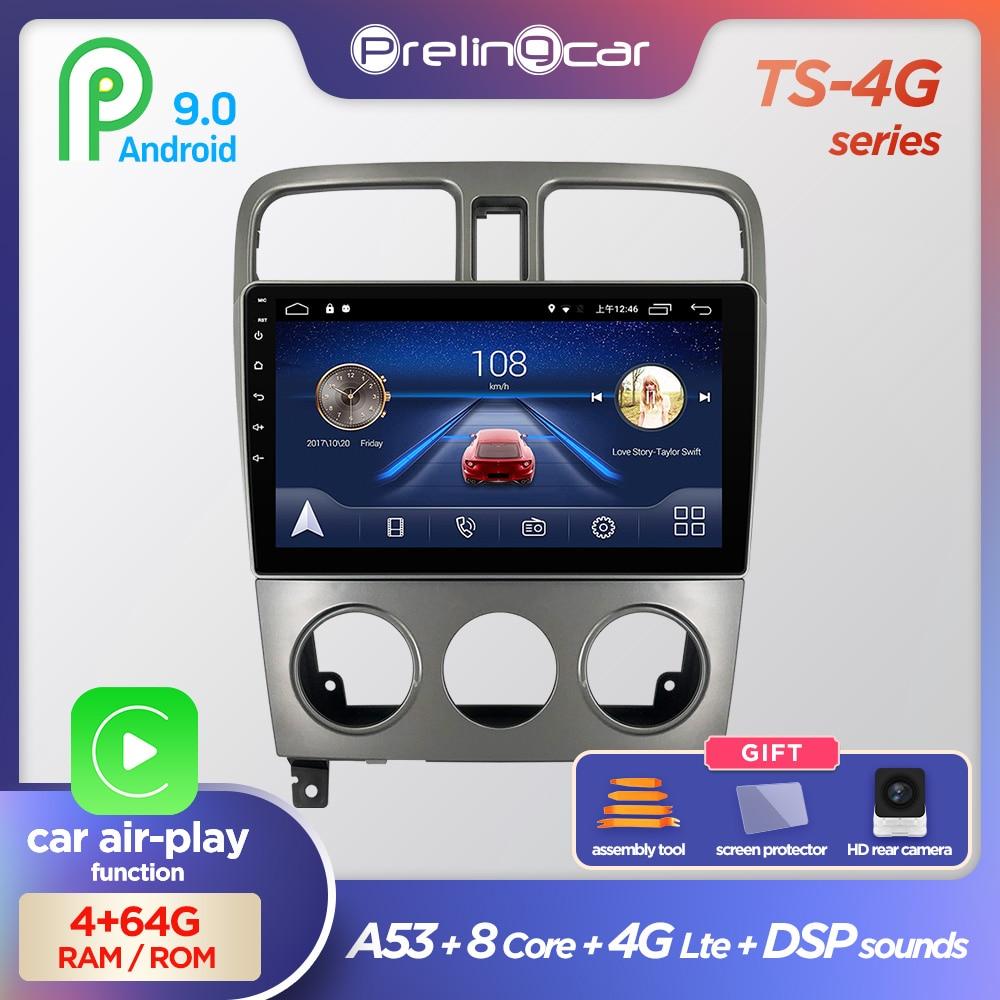 Prelingcar android 9.0 für subaru forester spoiler 2004 05 06 07 8 jahre radio Multimedia Video Player Navigation Gps DSP STEREO