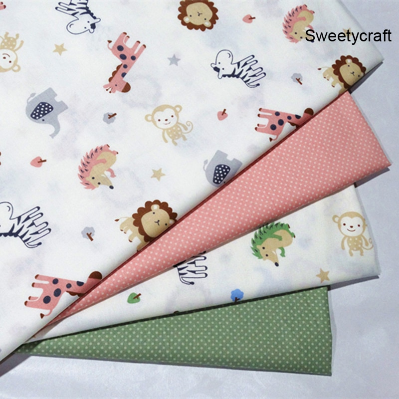 0.5*1.5M 100% Cotton Fabric Monkey Twill Fabric For Quilting Kid Patchwork Cloth DIY Sewing Fat Quarters Material for Baby Child