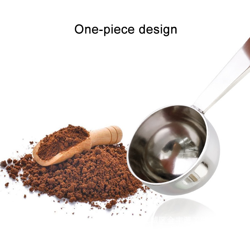 Economical 2 In 1 Stainless Steel Dual Purpose Spoon Coffee Tamper Measuring Spoon Kitchenware ds99