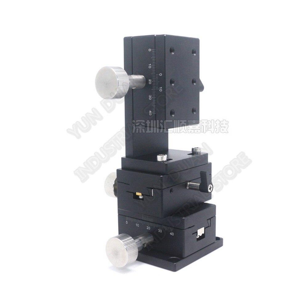 15 мм дорожная XYZ 3 оси 40*60 точная ручная обрезная платформа 49N направляющий