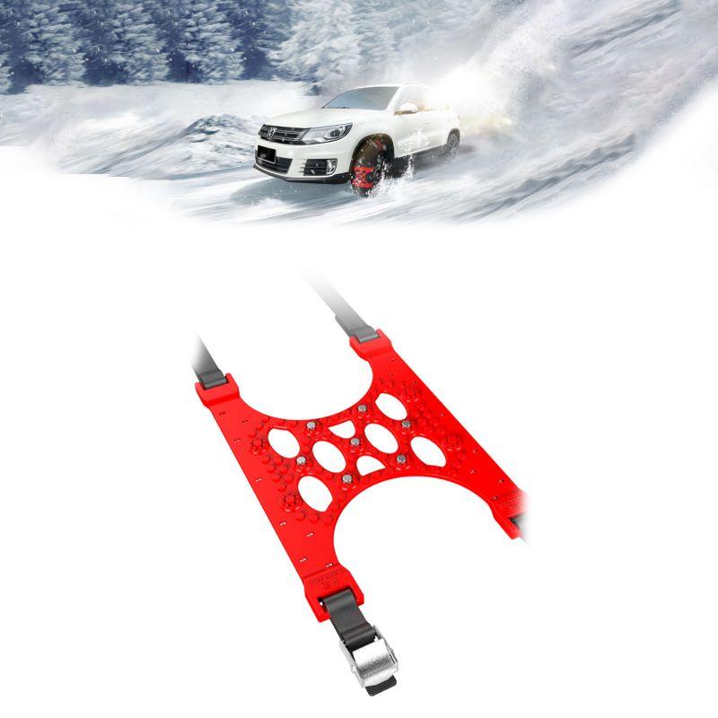 ONEWELL 6 uds Cadena de neumáticos cadenas de nieve invierno camión coche fácil instalación nieve cadena neumáticos cinturón antideslizante