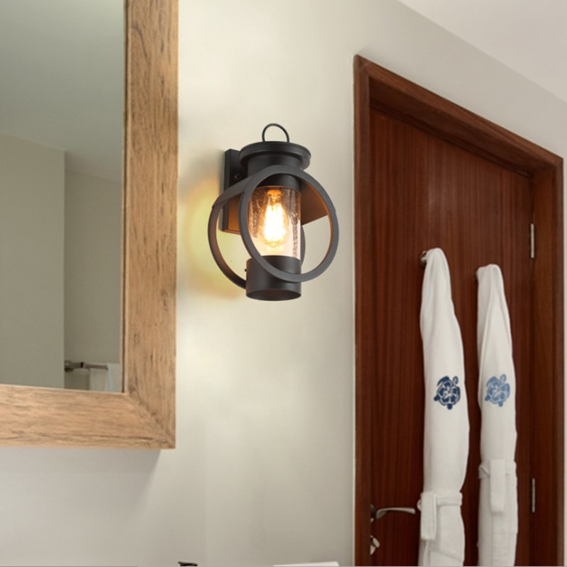 American Retro Light Industrial Style Outdoor Waterproof Lighting Sconce House Porch Lights Exterior Wall Lamp E27/E26 85-265V enlarge