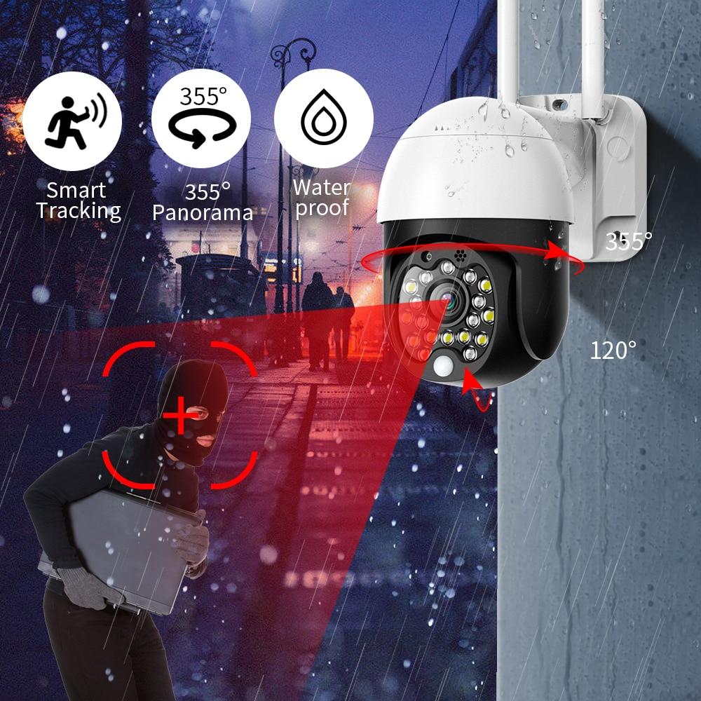 SDETER 1080P камера безопасности wifi наружная PTZ скоростная купольная Беспроводная CCTV ip-камера Pan Tilt 4X Zoom аудио IR наблюдения P2P CAM