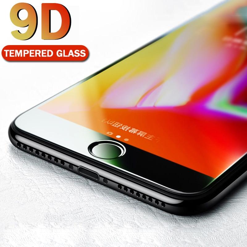 Verre de protection 9D pour iPhone 7 protecteur décran iPhone 8 Xr Xs Xs 11 pro Max verre trempé sur iPhone X 6 6s 7 8 plus Xs verre