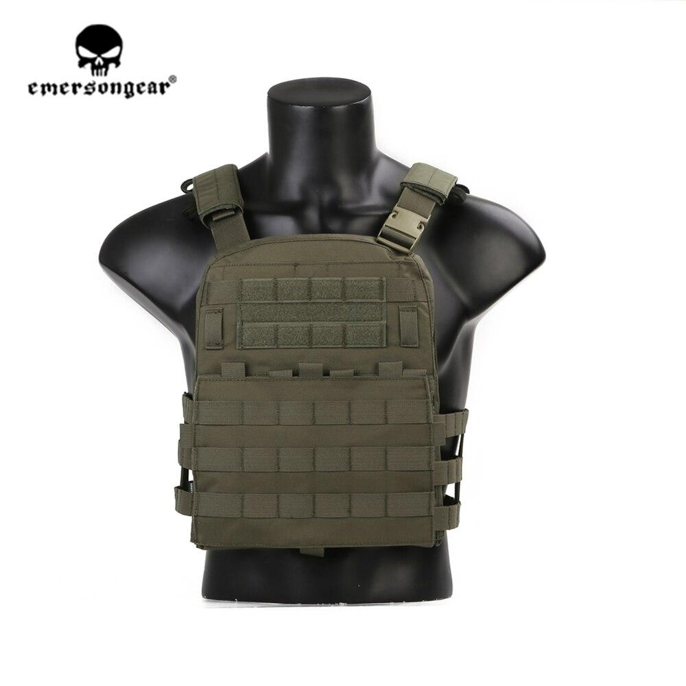 Emersongear emerson ranger verde placa transportadora cp estilo avs colete tático leve ajustável armadura corpo cs engrenagem de proteção