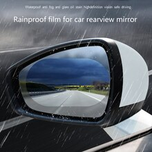 2PCS All Sizes Car Glass Anti-fog and Rain-proof Film Car Rearview Mirror Sticker Modification for A
