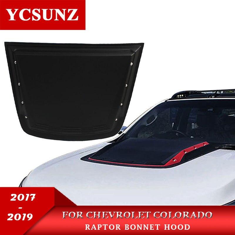 غطاء محرك السيارة الأسود ، غطاء محرك السيارة ، شيفروليه ، كولورادو ، 2012-2020 ، 2017-2019