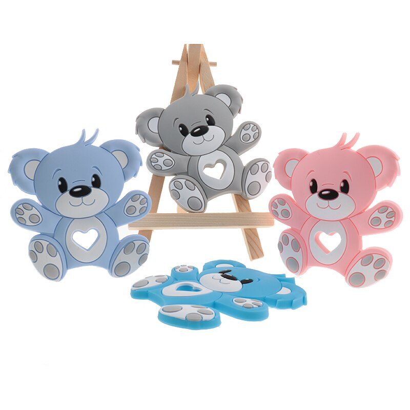 AliExpress - 10pcs Bear Silicone Teethers For Babies Teether for teeth fidget toys For newborn baby Nurse Accessories Teething Ring BPA Free