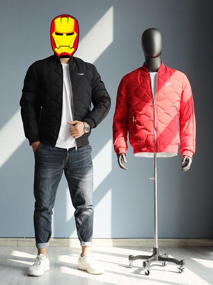 2021 Man Duck Down Coat & Jacket Short Winter Parkas Warm Clothing for Male Windbreaker Casual Outer Wear Plus Big Size XXXXL