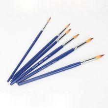 6 pièces/ensemble pinceaux ensemble aquarelle peinture outils ronde pointe pointue Gouache peintures crochet ligne stylo Art Suplies GXMA