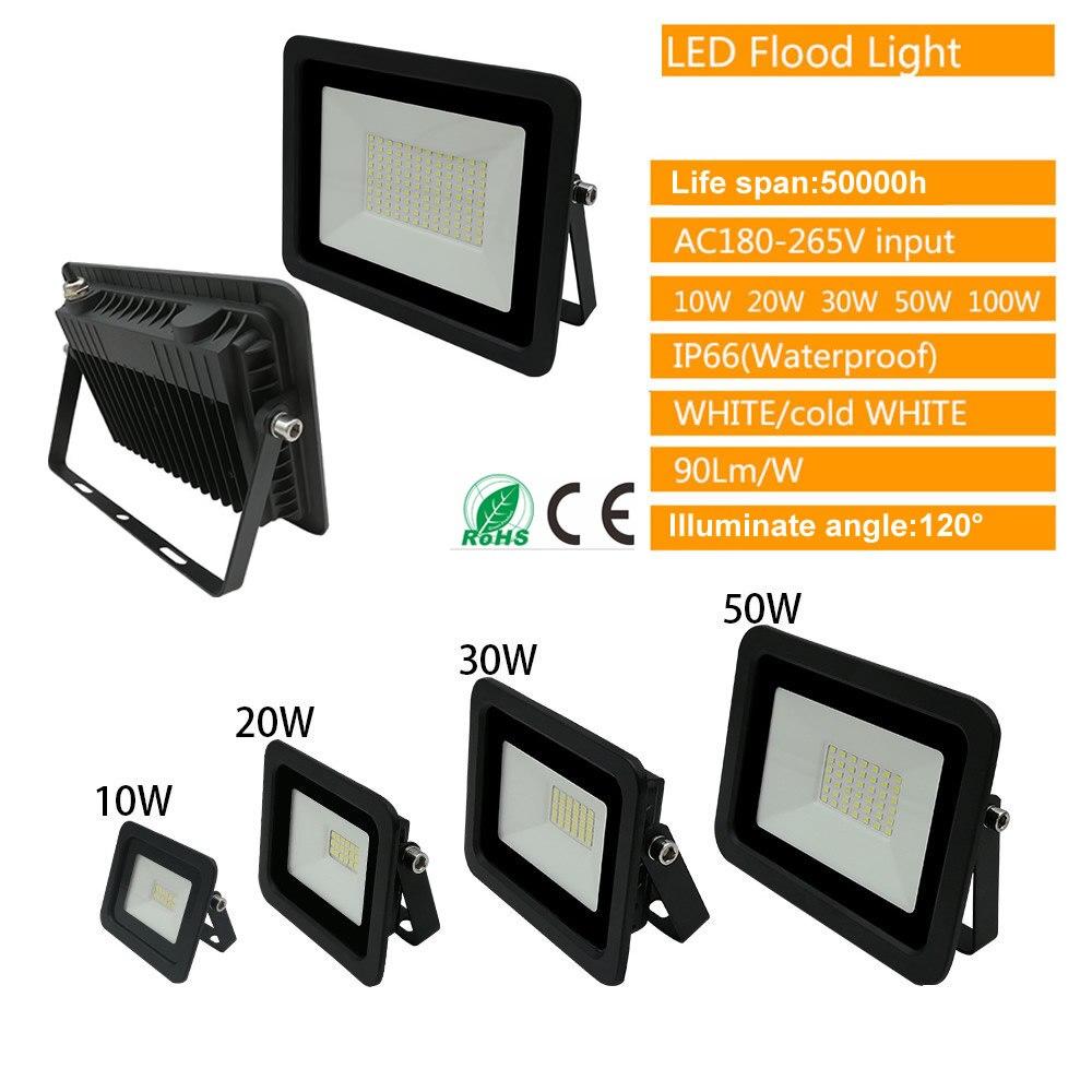 220V LED FloodLight Reflector Spotlight outdoor Exterior Street wall Light Lamp Outdoor Courtyard Garden Garage Security Lamp Wa enlarge
