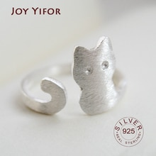 925 srebro pierścionki dla kobiet kot okrągły geometryczny 925 srebro mała biżuteria ślubna minimalistyczny prezent