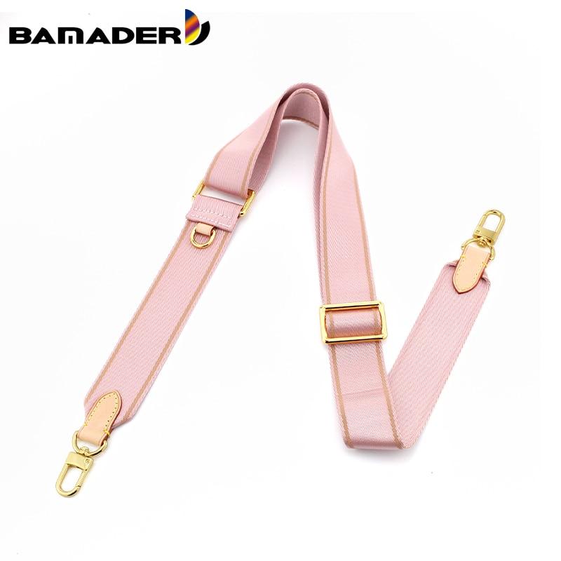 BAMADER Adjustable Canvas Bag Strap Plus Coin Purse Leather Cowhide Women luxury Replace Bag Strap Webbing Wide Shoulder Strap