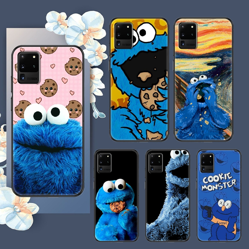 cartoon cookie monster Phone case For Samsung Galaxy Note 4 8 9 10 20 S8 S9 S10 S10E S20 Plus UITRA