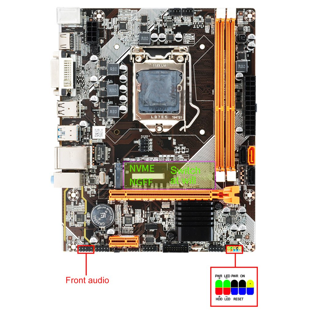 2021 New DDR3 1155 Pin Second Generation Third I3 I5 I7 Series Cpu B75/H61 For Motherboard Desktop USB Mainboard