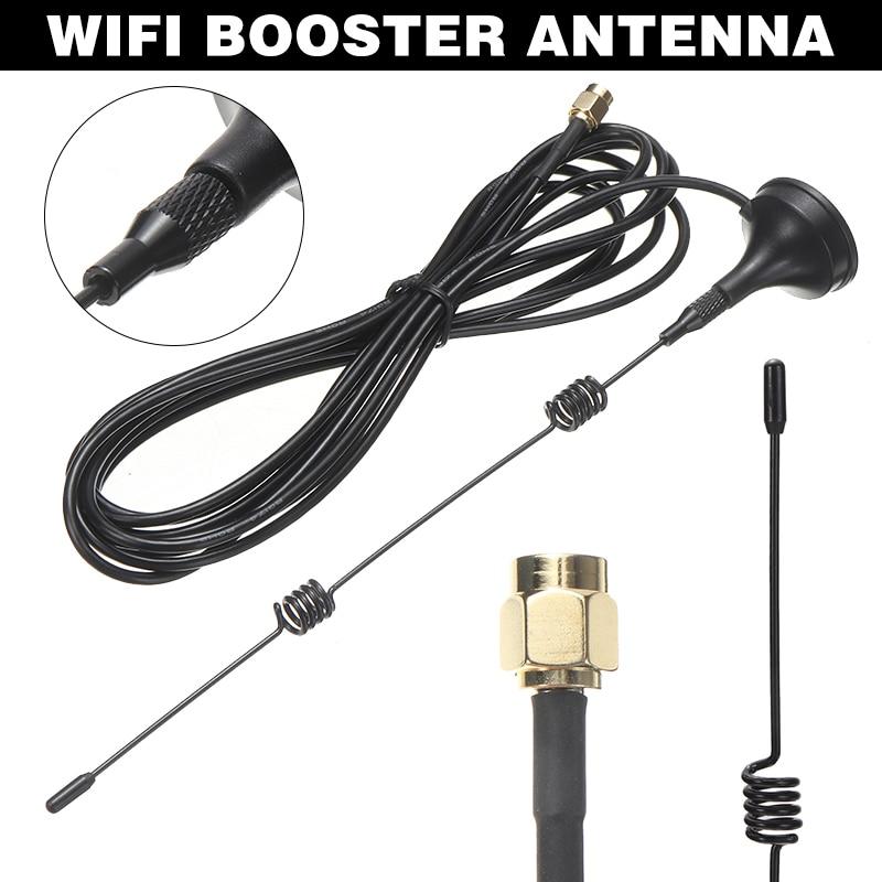 Pohiks 1 шт. 2,4 ГГц 7DBI Беспроводной Wi-Fi 5 X усилитель диапазона антенна расширитель внешнего сигнала антенны