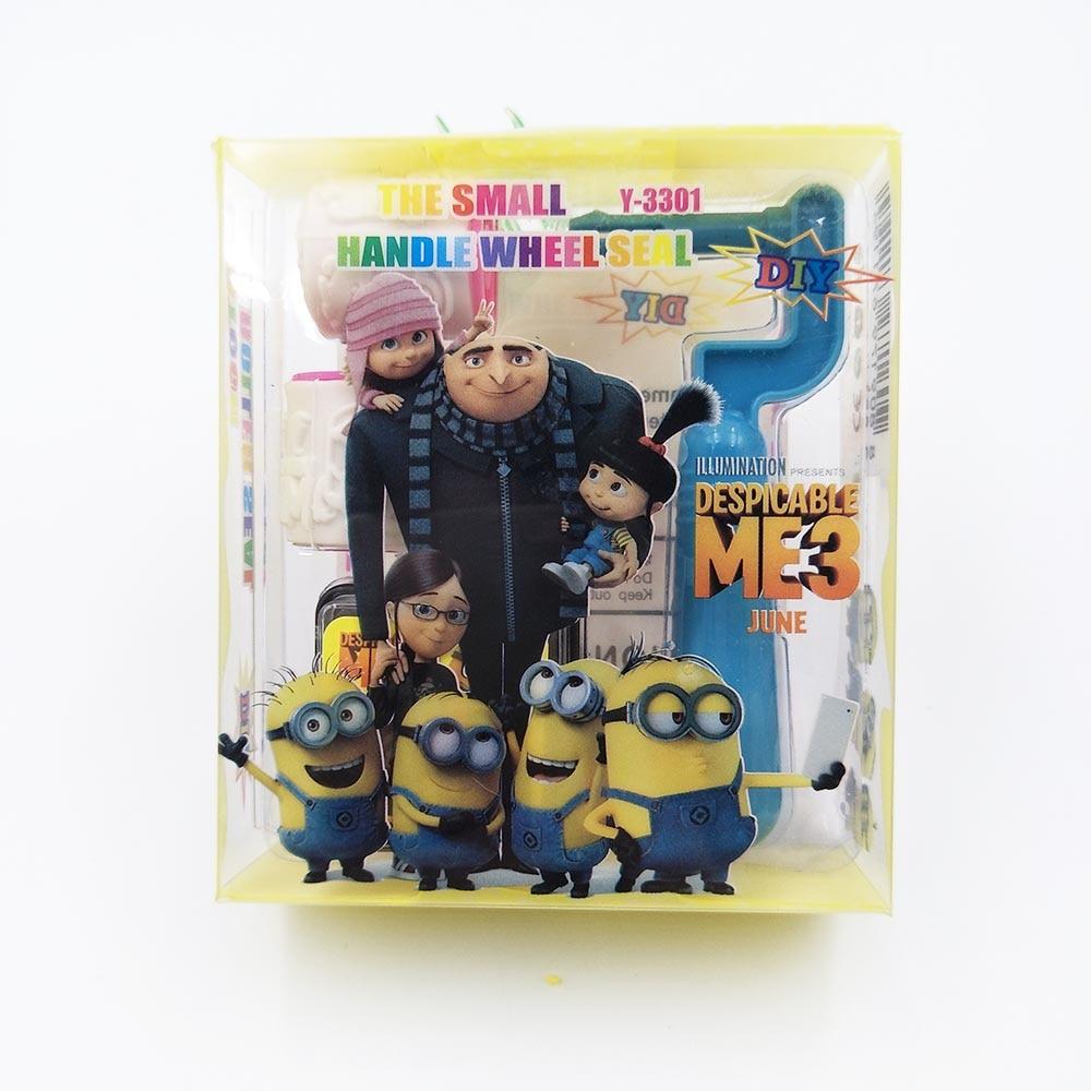 Minions sello de dibujos animados sellos niños juguete fiesta favor pintura plantilla DIY suministros regalos fiesta productos niños