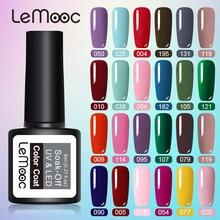 LEMOOC 8ML Gel vernis à ongles rose violet couleur série UV LED vernis à ongles permanent Gel peinture 54 couleurs tremper hors vernis à ongles Gel