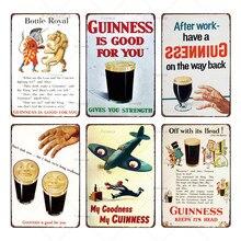 Guinness-signe de métal métal   Vintage Sane, fête de déjeuner My goodnessPlaques, décor pour maison cuisine, Cuadros rétro café Pub Art