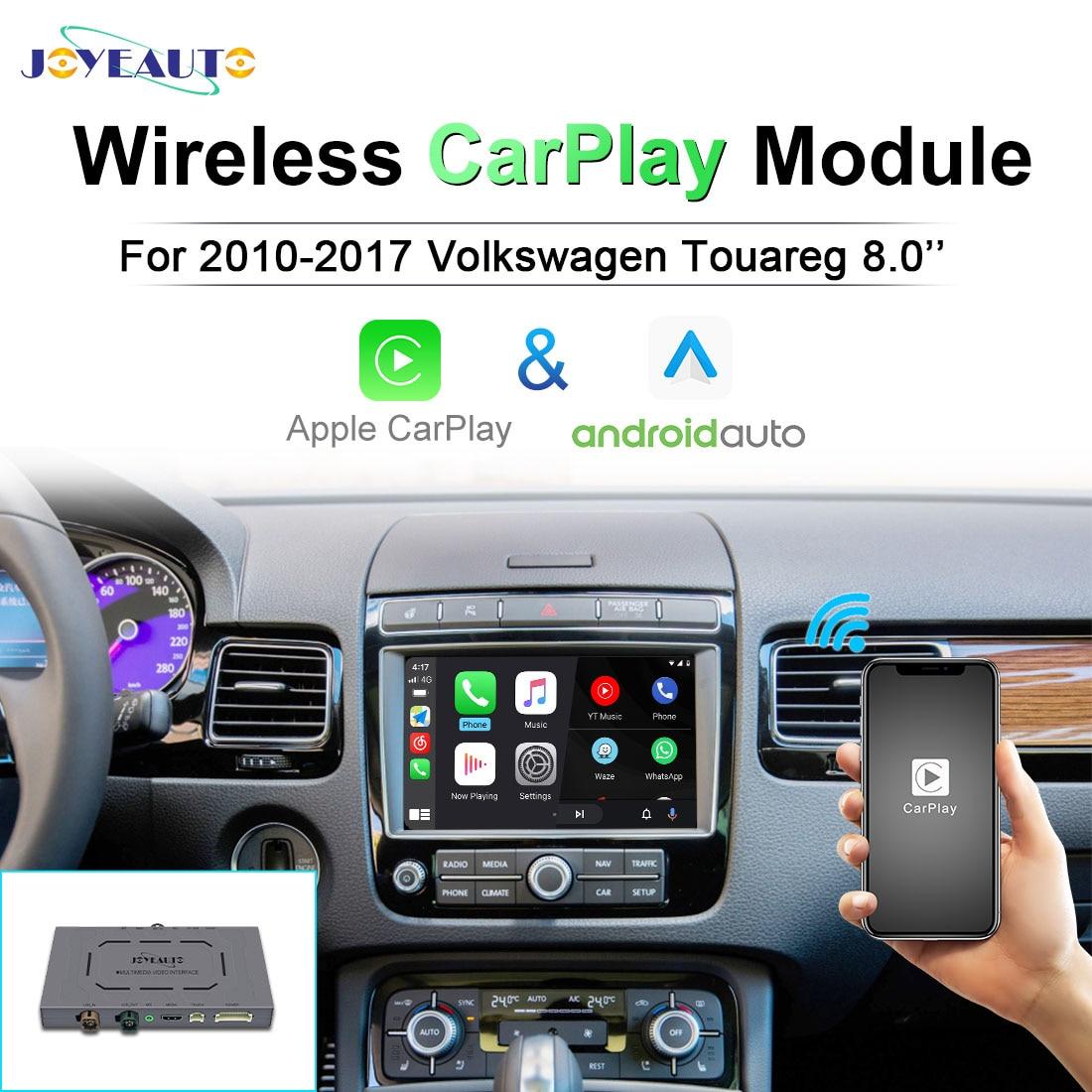 Get JoyeAuto For Volkswagen Touareg 2010 – 2017 8.0 inch Android Auto Wireless Apple Carplay Decoder Navigation Mirroring TV Kit Box