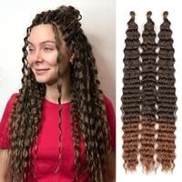 deep wave twist crochet hair long freetress synthetic ombre braiding hair extensions soft afro twist high tempreture fiber hair