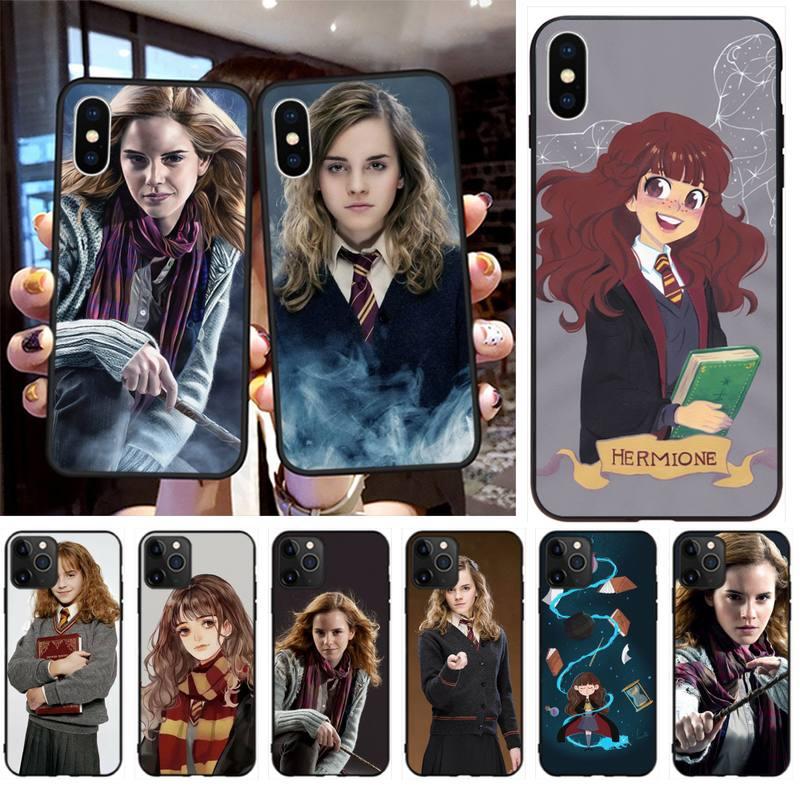 Hpchcjhm hermione jean granger diy pintado bling caso de telefone para iphone 11 pro xs max 8 7 6 s plus x 5S se 2020 xr