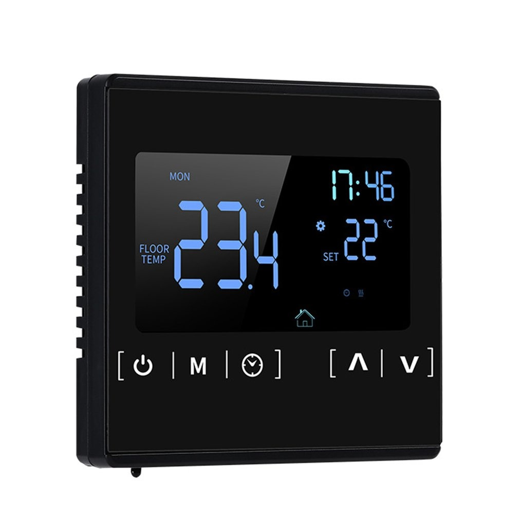 New Floor Heating Thermostat Lcd Touch Screen Control Electric Touch Screen Intelligent Temperature Controller With WIFI