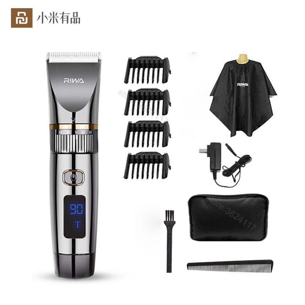 Youpin RIWA-ماكينة قص الشعر الكهربائية للرجال ، ماكينة قص الشعر الكهربائية الأصلية ، LED ، طاقة عالية ، من الفولاذ