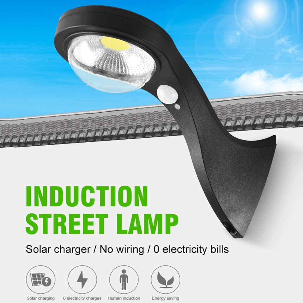 LED solar street light outdoor PIR motion sensor remote control waterproof wall light front door courtyard garage night lighting