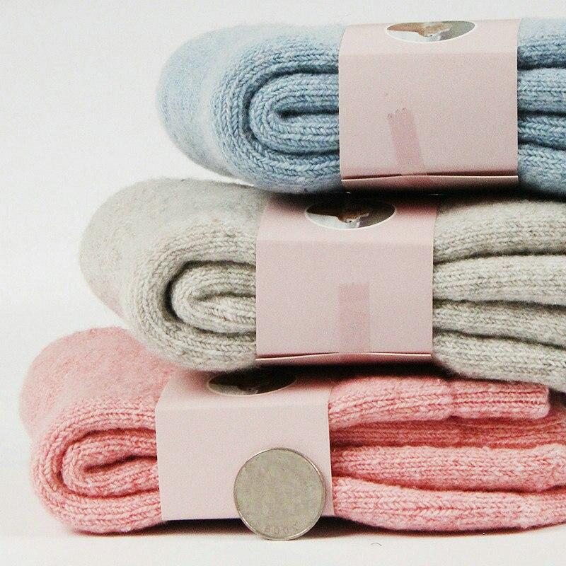 Calcetines gruesos térmicos de lana de Cachemira para mujer, calcetines de esquí de invierno para nieve, botas Unisex, calcetines para el suelo, para correr y para dormir, Fuzzy, triangulación de envíos