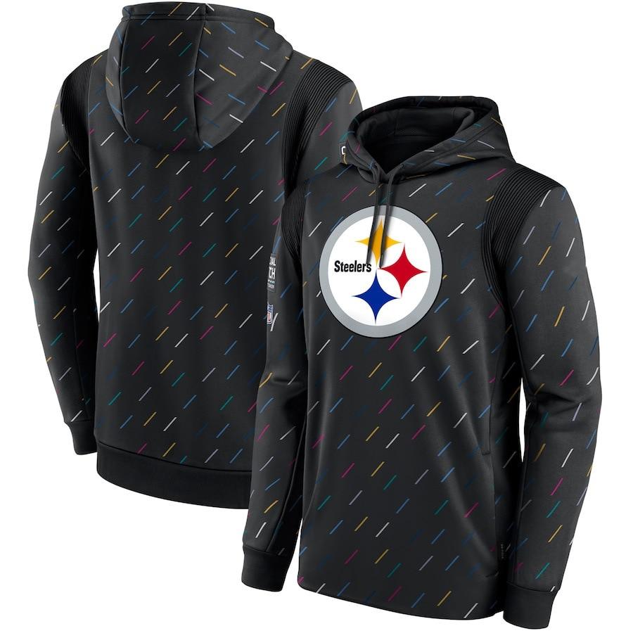 بيتسبرغ ملابس للرجال Steelers البلوز حاسمة قبض Therma الأمريكية لكرة القدم البلوز عادية غطاء رأس عالي الجودة الفحم 3XL