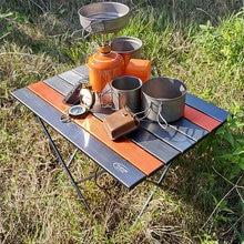 Portable Desk Folding Ultra-Light Traveling Outdoor Picnic Pink Black Camping Hiking