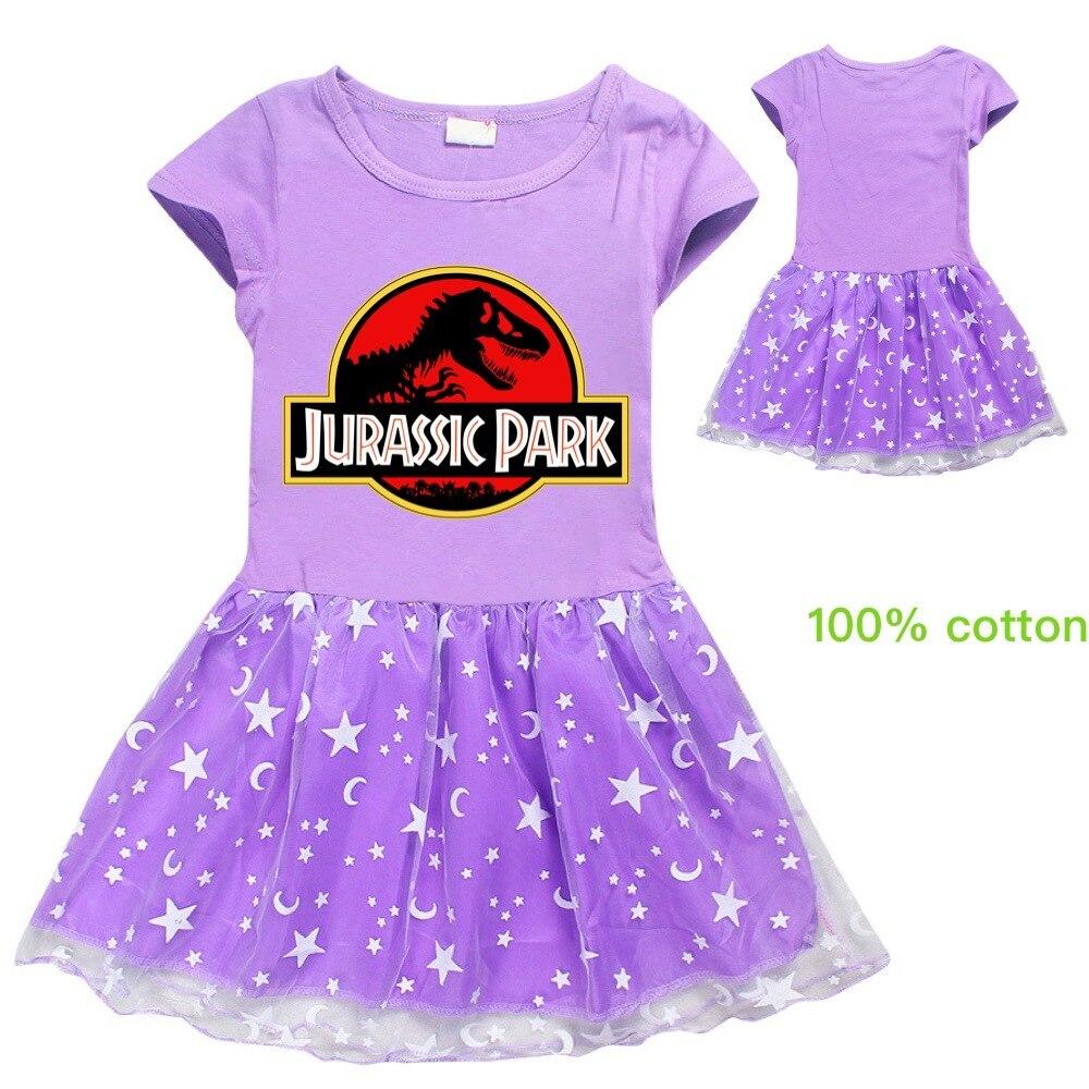 Vestido De princesa, gran oferta De verano 2020, Vestidos Dinasour De dinosaurio, hasta la rodilla, a la moda, 2020, Vestido bonito para niñas, Vestido De Los Ninos
