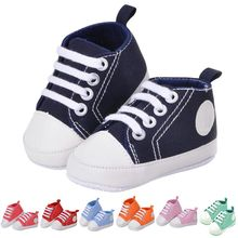 Newborn Baby Boys Girls Soft Sole Shoes Infant Lace Up Sneakers Prewalkers Shoes Infant Toddler Soft