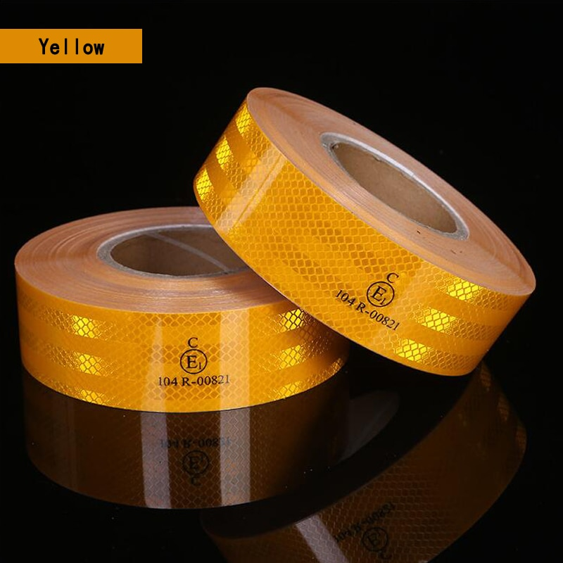 5cmx10m/Roll Reflective Safety Warning Tape Road Traffic Construction Site Self-Adhesive Reflective Guide Sign недорого