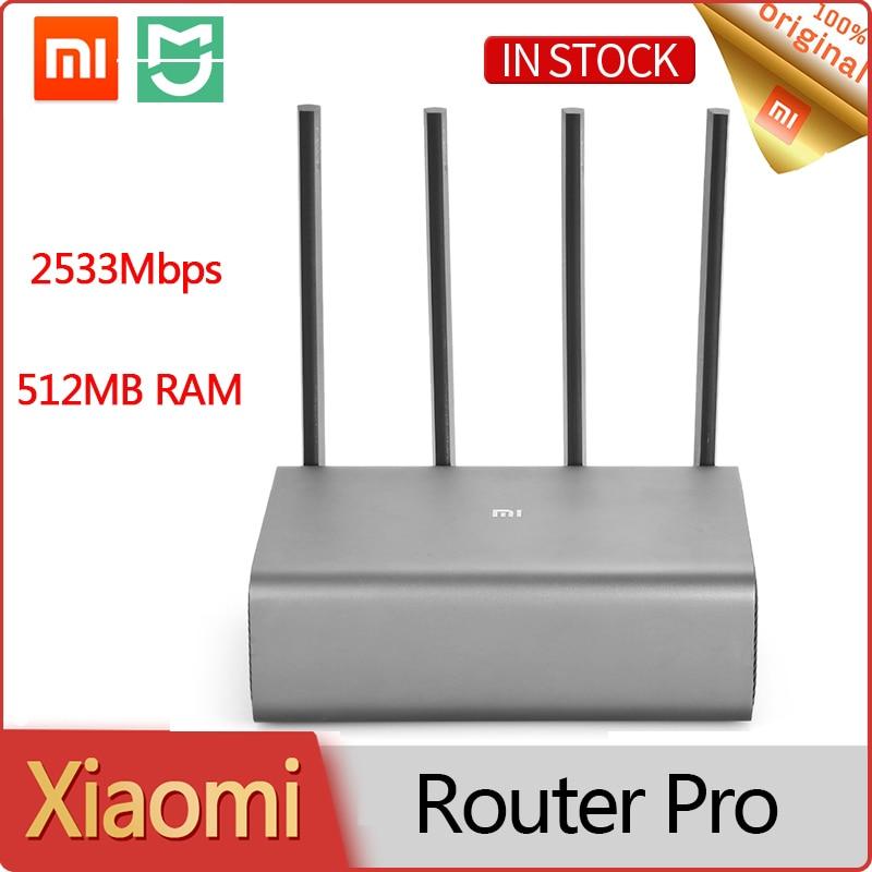 شاومي راوتر برو 2533Mbps 512MB الذكية اللاسلكية واي فاي مكرر 2.4GHz 5.0GHz ثنائي النطاق 4 هوائيات واي فاي شبكة موسع