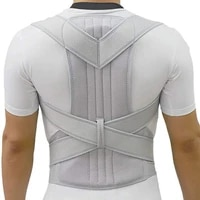silver posture corrector scoliosis back brace spine corset belt shoulder therapy support poor posture correction belt men women