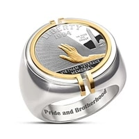 freedom sign commemorative ring for men hip hop rock punk mens ring party jewelry accessories